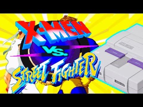 X-Men vs. Street Fighter para o Super Nintendo (SNES HACK)