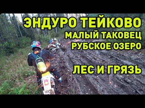 Эндуро в Тейковском район - от Малого Таковца в сторону Рубского озера. Лес, грязь. Мото Иваново