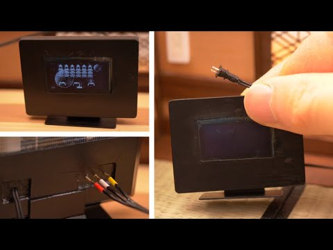 How to Make Working Miniature TV Monitor / Arduino Project / DIY Tiny Home appliance for Doll House