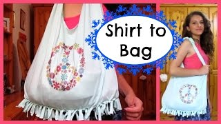 DIY | Shirt to Bag | No sew Thumbnail