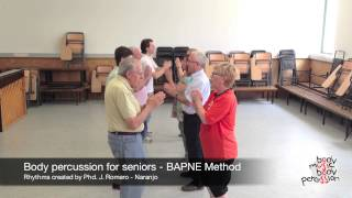 Body percussion for elderly people - BAPNE Method 1