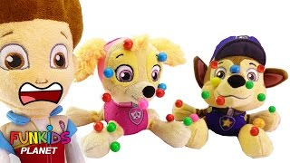 Best Learning Colors Videos for Children - Paw Patrol Skye & Chase are Sick with Gumball Sickness