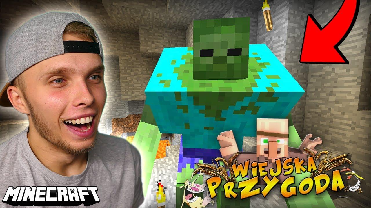 SPOTKAŁEM POTWORA W KOPALNI w Minecraft! - Wiejska Przygoda!