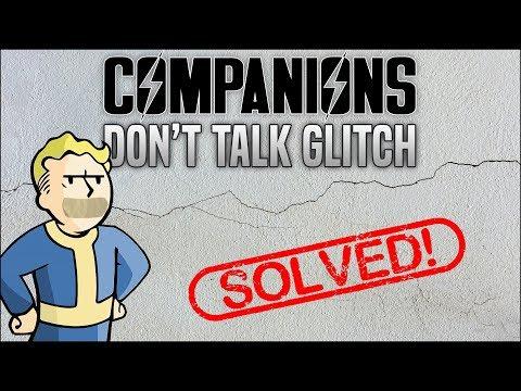 "Companions Won't Talk Glitch in Fallout 4 😷 The ""No Talking"" Solution"