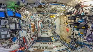 VR 360: ISS Interior with REAL AMBIENT SOUNDS (Updated 2017)