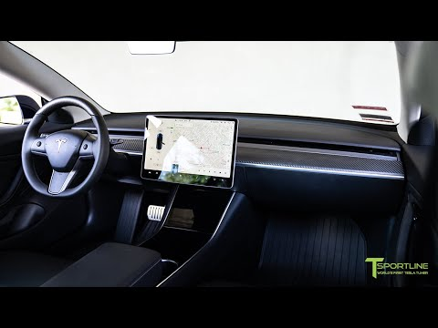 How To Install A Tesla Model 3 Carbon Fiber Dash Panel On An Open Pore Wood Dashboard