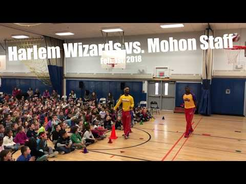 Harlem Wizards take on the Mohonasen Staff in an EPIC basketball game!!