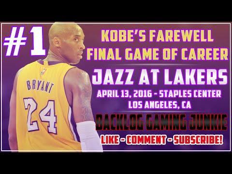 Kobe's Farewell - Final Game of Legendary Career vs Utah Jazz (pt 1)