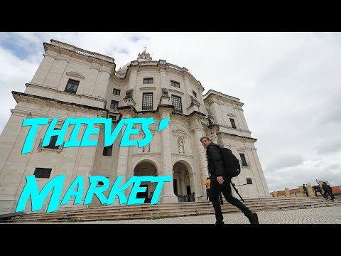 DISCOVERED THE SECRET THIEVES' MARKET! - Lisbon, Portugal