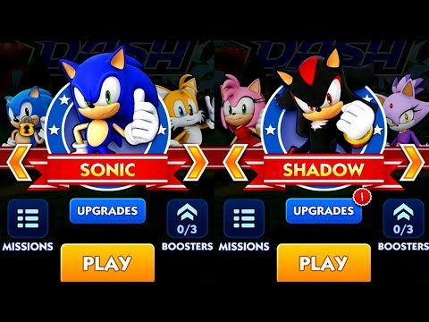 Sonic Dash SONIC VS SHADOW Android iPad iOS Gameplay HD
