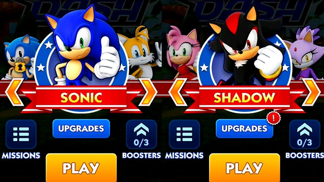 Sonic dash sonic vs shadow android ipad ios gameplay hd - Jeux de sonic vs shadow ...