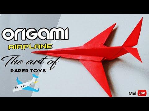 Origami Airplane - Cara mudah Membuat Origami Pesawat
