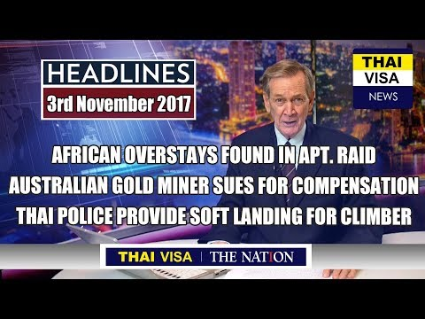 Thai police crackdown on illegal immigrants from Africa entering Thailand
