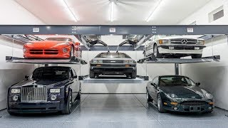 Installing the MOST INSANE Car Lift Ever In My DREAM GARAGE