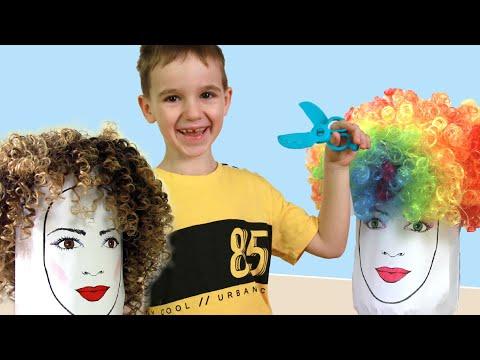 袦邪泻褋懈屑 懈谐褉邪械褌 胁 褋邪谢芯薪 泻褉邪褋芯褌褘 ! Pretend play beauty salon for kids