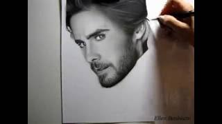 Jared Leto  Drawing  by Ellen Sunbeam