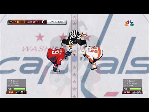 NHL 18 - Washington Capitals vs Philadelphia Flyers - Gameplay (HD) [1080p60FPS]