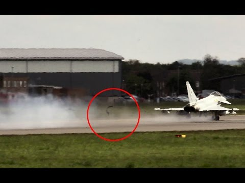 Double tyre blowout on Typhoon aborted take off.