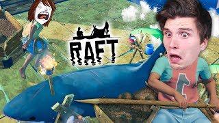 Der Hai greift mitten auf dem Raft an! ☆ Raft #12