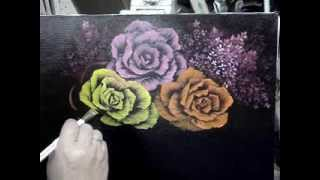 Yellow Rose oil painting .MPG