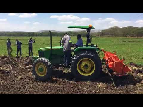 LonAgro Rwanda John Deere 5503E Hand Over to Muvumba P8 Rice Growers Cooperative
