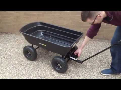 Gorilla Carts Garden Cart Better Than Wheelbarrow Doovi