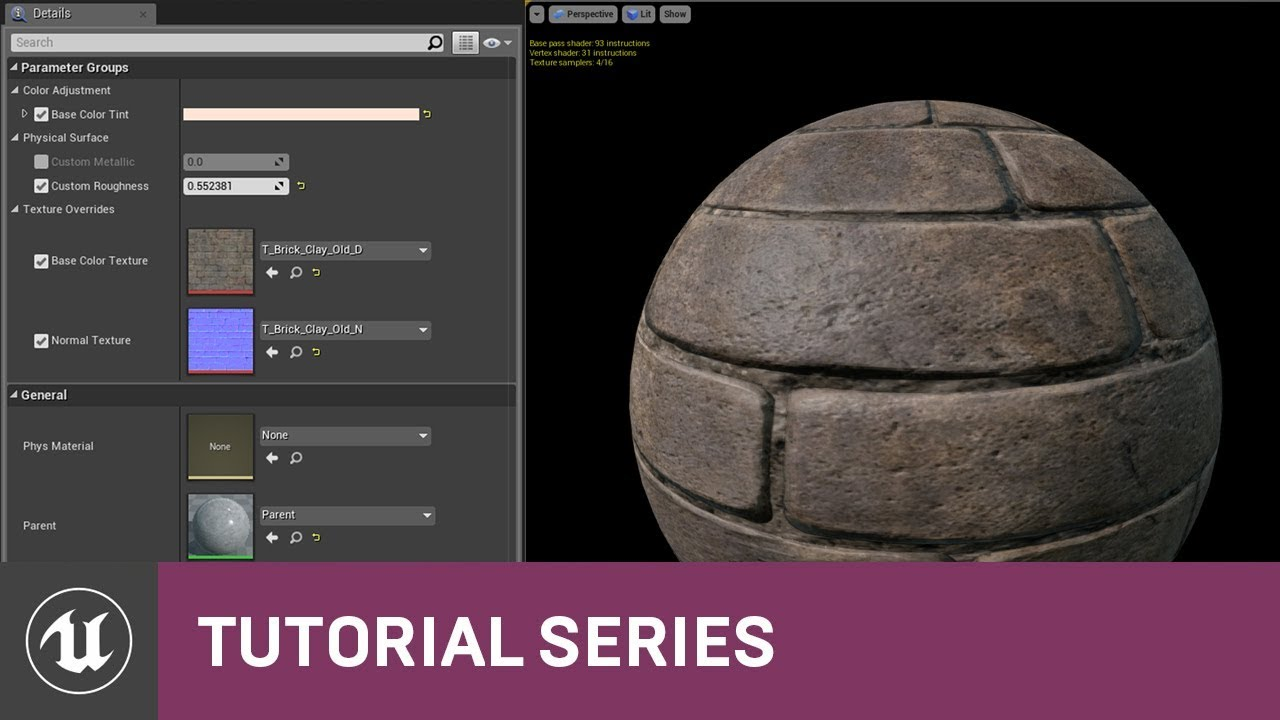 Intro to Materials: Material Instancing | 08 | v4 0 Tutorial Series |  Unreal Engine