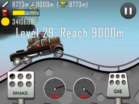 13924 Meters / Over 9.6 Million Coins (Truck / Highway / Hill Climb Racing)