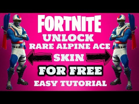 FORTNITE How To Unlock Alpine Ace Skin For Free Tutorial