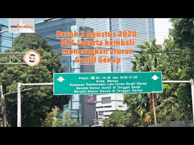 MULAI 3 AGUSTUS 2020 ATURAN GANJIL GENAP di DKI JAKARTA KEMBALI DIBERLAKUKAN