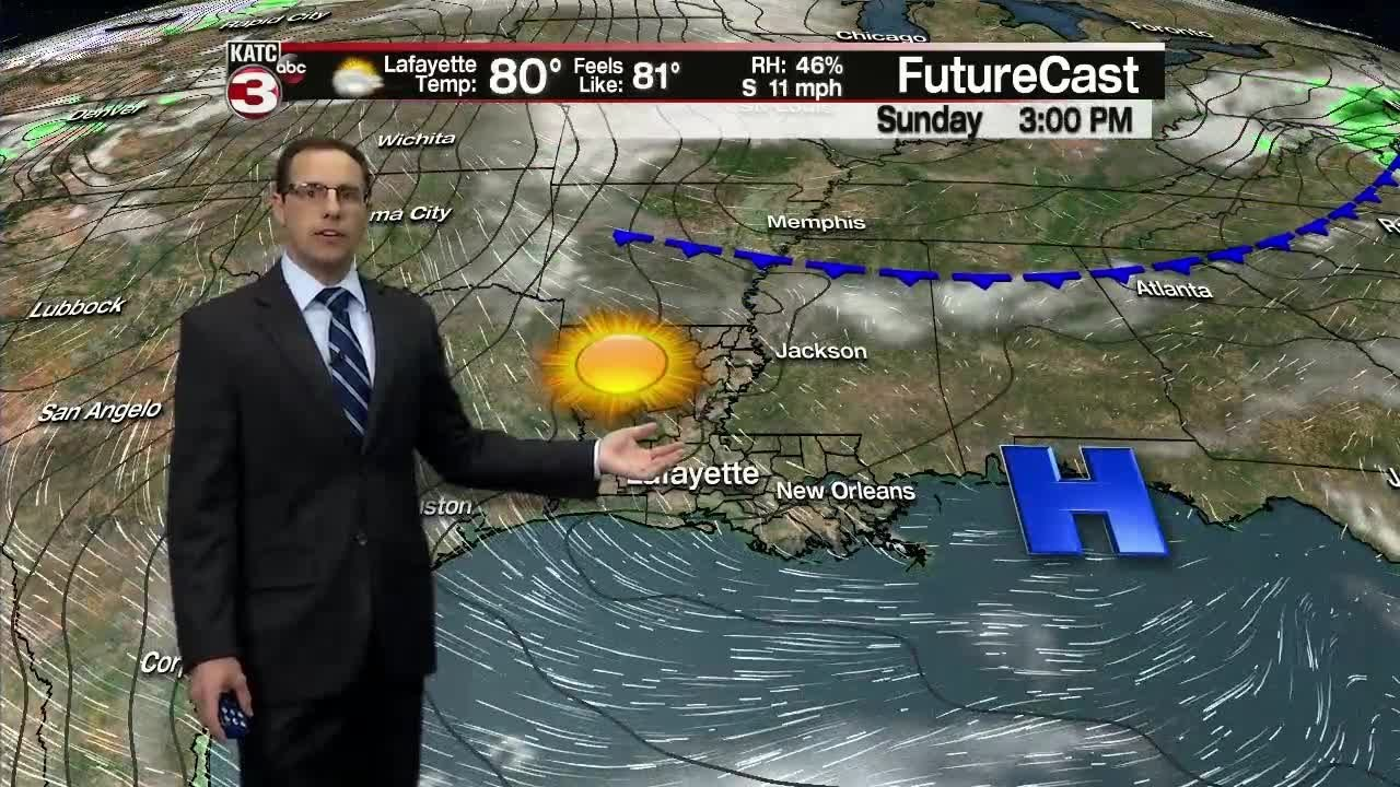 Eric's Saturday 10pm Weather Forecast