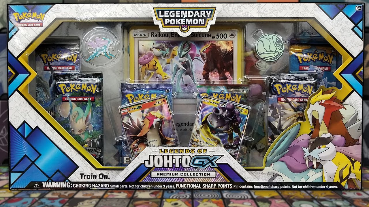 opening a brand new pokemon legends of johto gx premium collections box youtube
