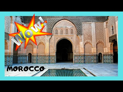 MARRAKECH, the spectacular 14th century Quranic (Islamic) college of Medersa (MOROCCO)