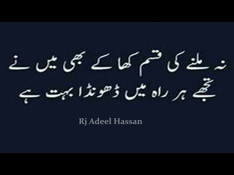 Two Line Urdu sad poetry Most heart touching collection of 2 line poetry Adeel Hassan Urdu Poetry 