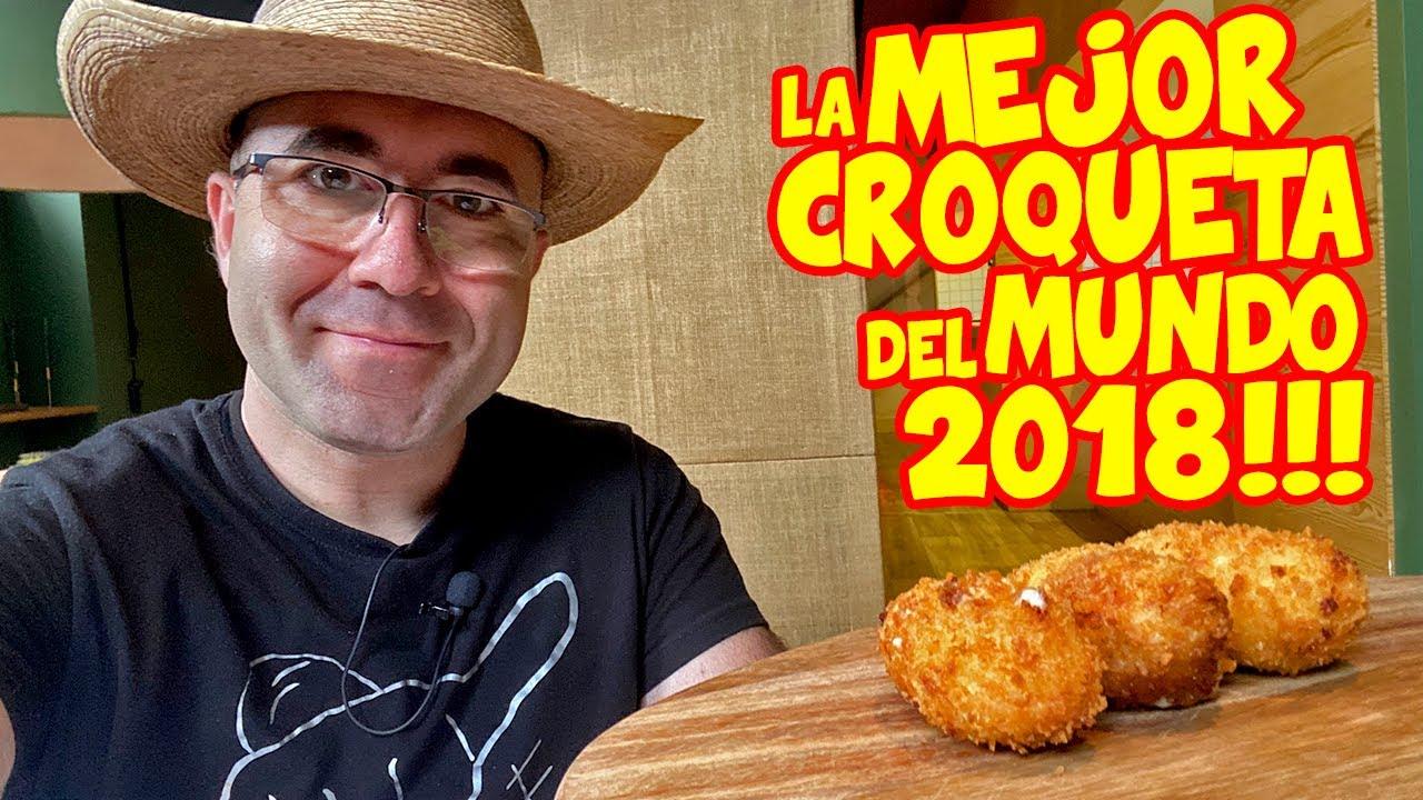 Probando la MEJOR CROQUETA de JAMÓN IBÉRICO del MUNDO de 2018