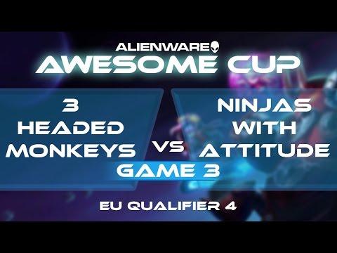 3 Headed Monkeys vs Ninjas With Attitude - G3 - AAC2: EU Qua