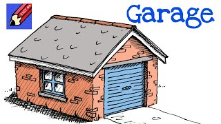 How to draw a garage in 3D real easy - step-by-step