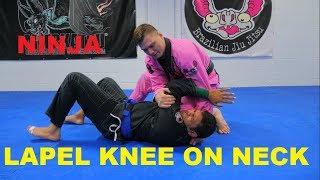 Ninja Lapel Knee on Neck Choke