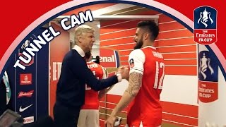 Tunnel Cam - Arsenal vs Manchester City - Emirates FA Cup Semi-Final | Inside Access