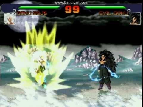Dragonball AF MUGEN - Goku SSJ5 vs Evil Goku - YouTube | 480 x 360 jpeg 22kB