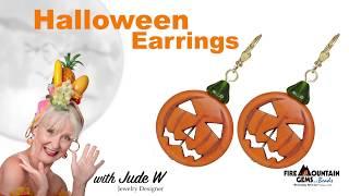 Easy Jack-O-Lantern Earrings
