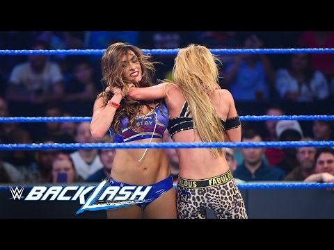 Nikki Bella attacks Carmella after being eliminated from the Six-Pack Challenge: Backlash 2016
