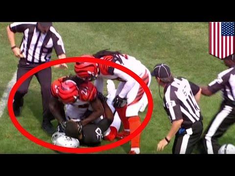 'Pacman' Jones rips off Amari Cooper's helmet, slams rookie's head into it - TomoNews