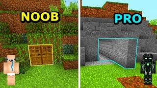 Minecraft NOOB VS PRO- TAJNA BAZA W MINECRAFT!
