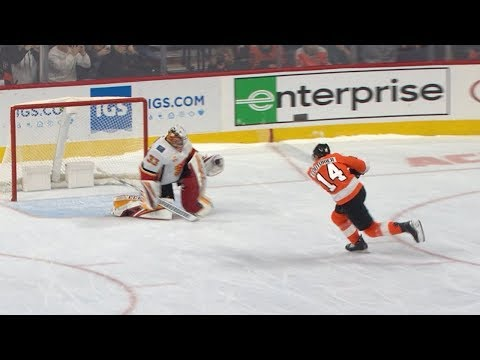 Flyers, Flames Settle Saturday Matinee With A Shootout