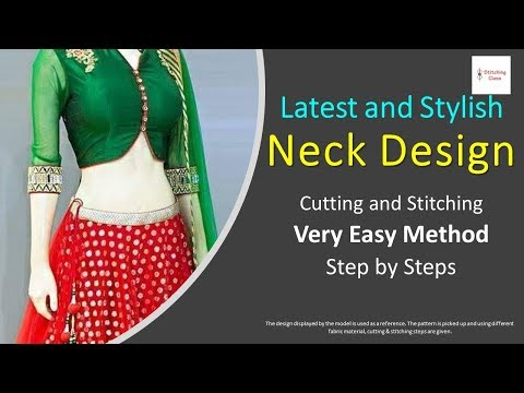 Latest And Stylish Neck Design Cutting And Stitching for Princess Cut Blouse Very Easy Step by Step