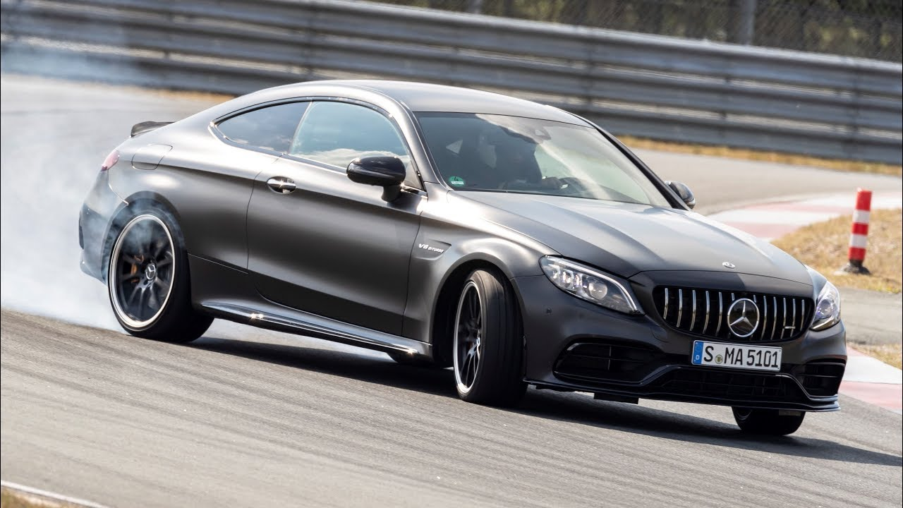 2019 Mercedes Amg C63 S Coupe Race Track Test Youtube