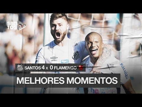 SANTOS 4 X 0 FLAMENGO | MELHORES MOMENTOS | BRASILEIRÃO (08/12/19)