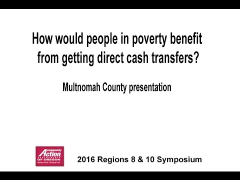 8 Provocative Question #2 – Cash Transfers – Multnomah County presentation