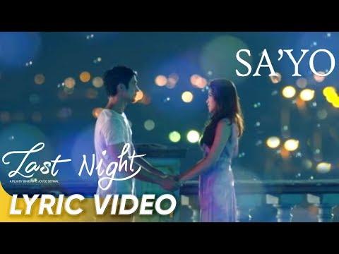 [LYRIC VIDEO] Sa'yo by Ebe Dancel | 'Last Night'